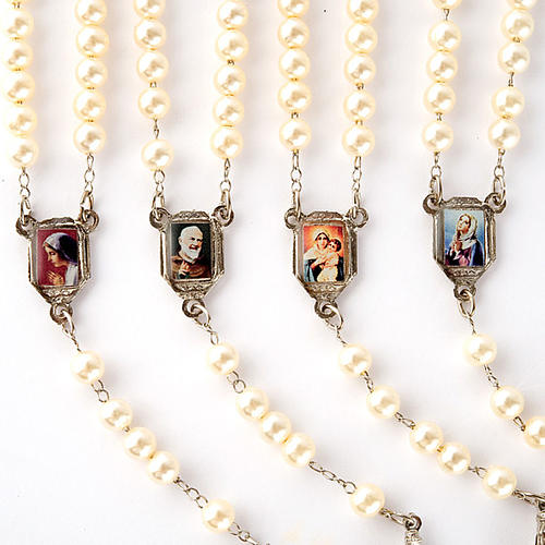 Pearled rosary with images (14 diam) 6