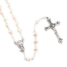 Chapelet avec perles, coeur s1