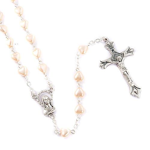 Chapelet avec perles, coeur 1