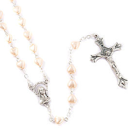 Heart-shaped beads pearled rosary s1