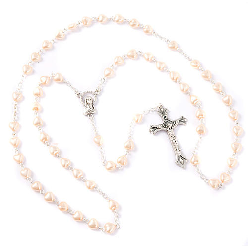 Heart-shaped beads pearled rosary 3