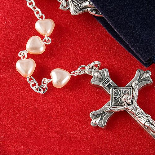 Heart-shaped beads pearled rosary 4