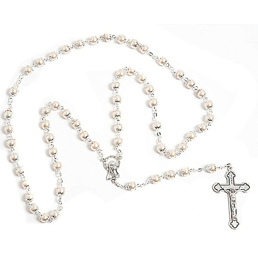 Mother of pearl effect copiglia rosary 4