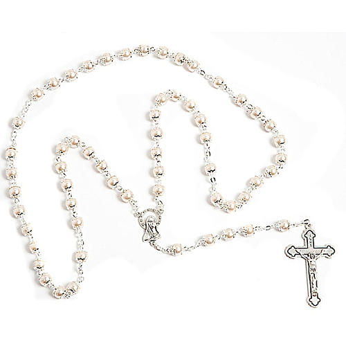 Mother of pearl effect copiglia rosary 1