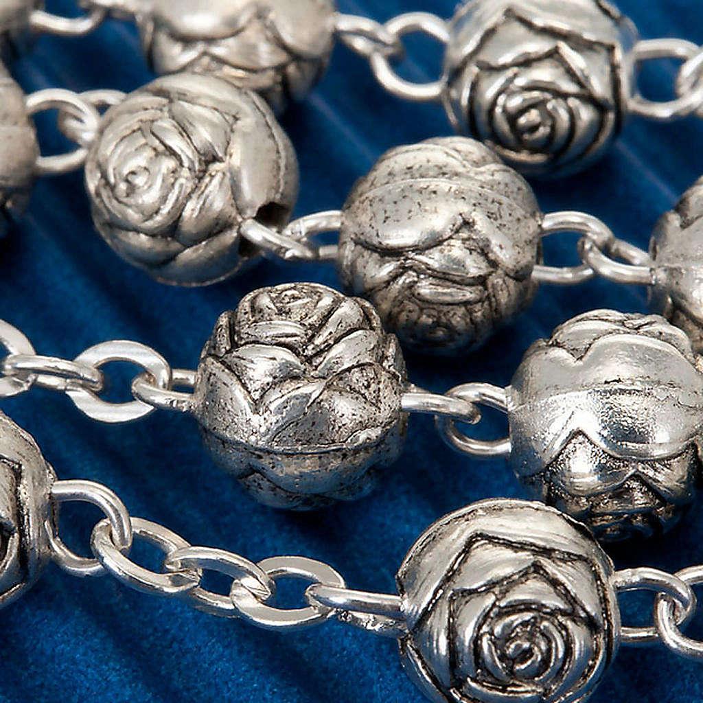 Rosario roselline metallo S. Teresa 4