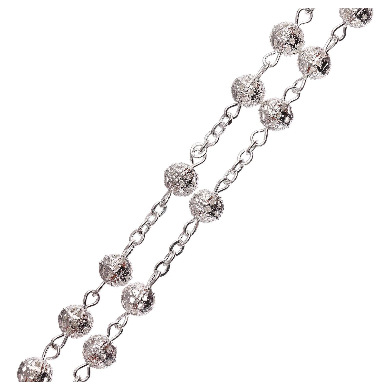 Metal filigree rosary 6 mm 4