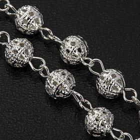 Metal filigree rosary 6 mm s5
