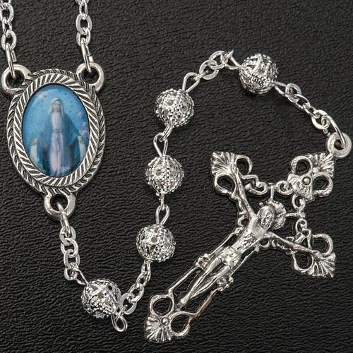 Metal filigree rosary 6 mm 2