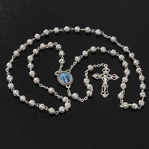 Metal filigree rosary 6 mm 6