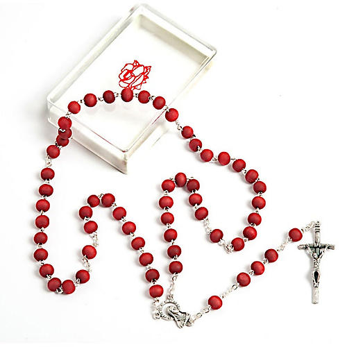 Rose-scented wood rosary 1