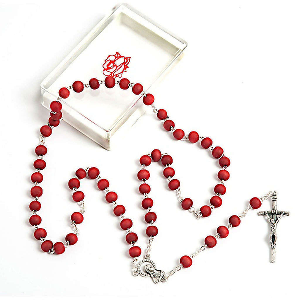 Rose-scented wood rosary 4