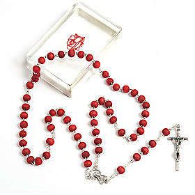 Rose-scented wood rosary s1