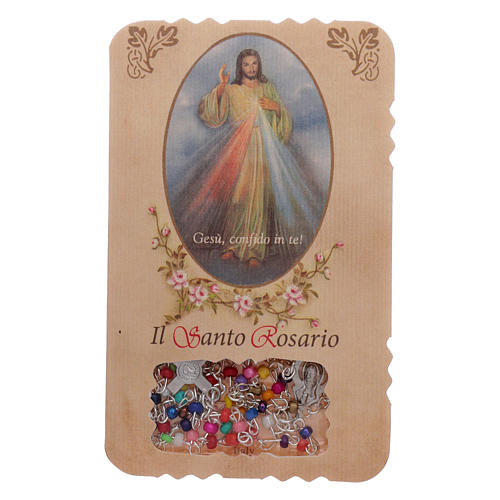Rosary with Divine Mercy leaflet mysteries litanies 1