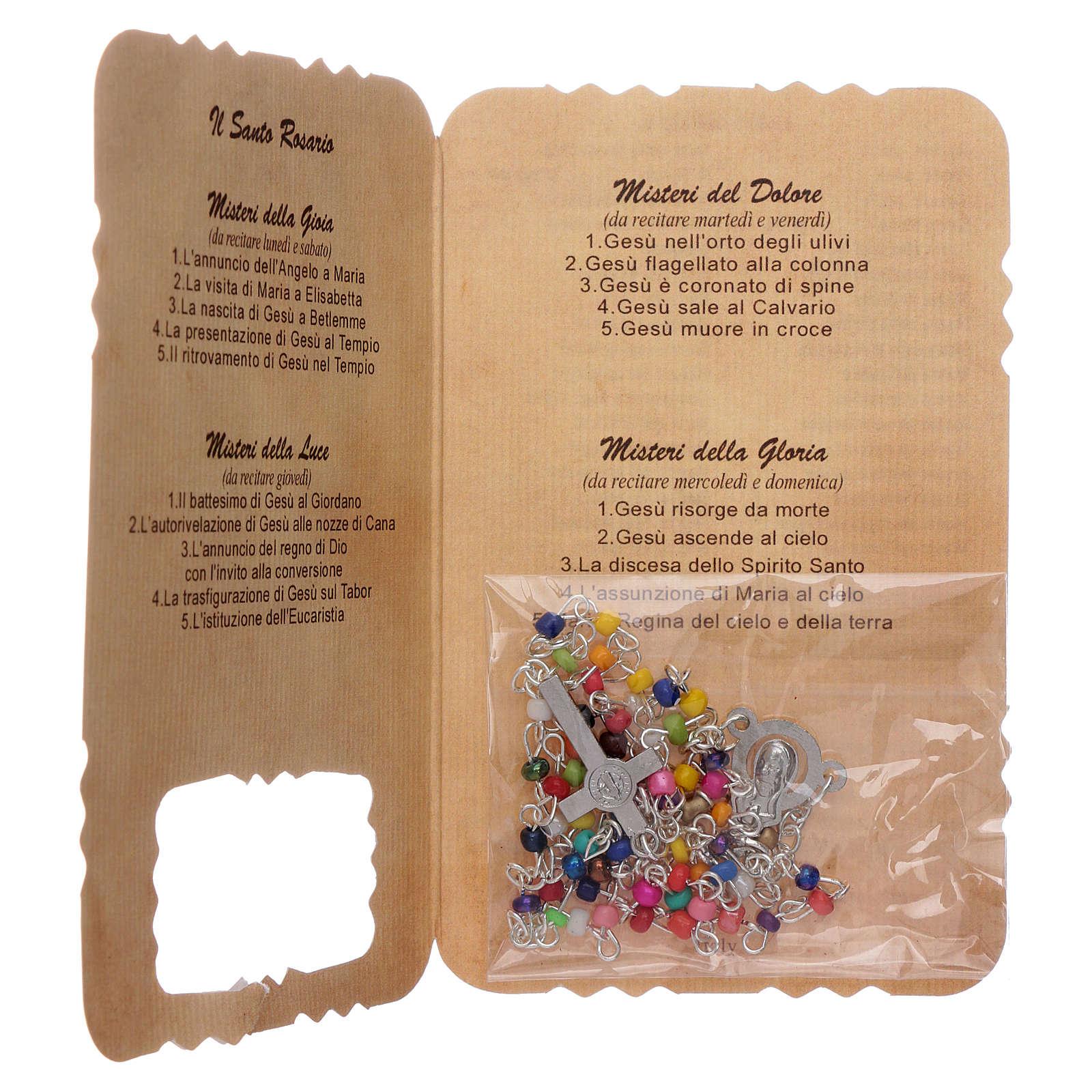 Rosario con folleto misterios y letanías 4