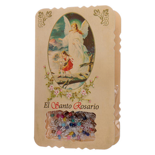 Rosario con pieghevole angelo custode, litanie e misteri 1