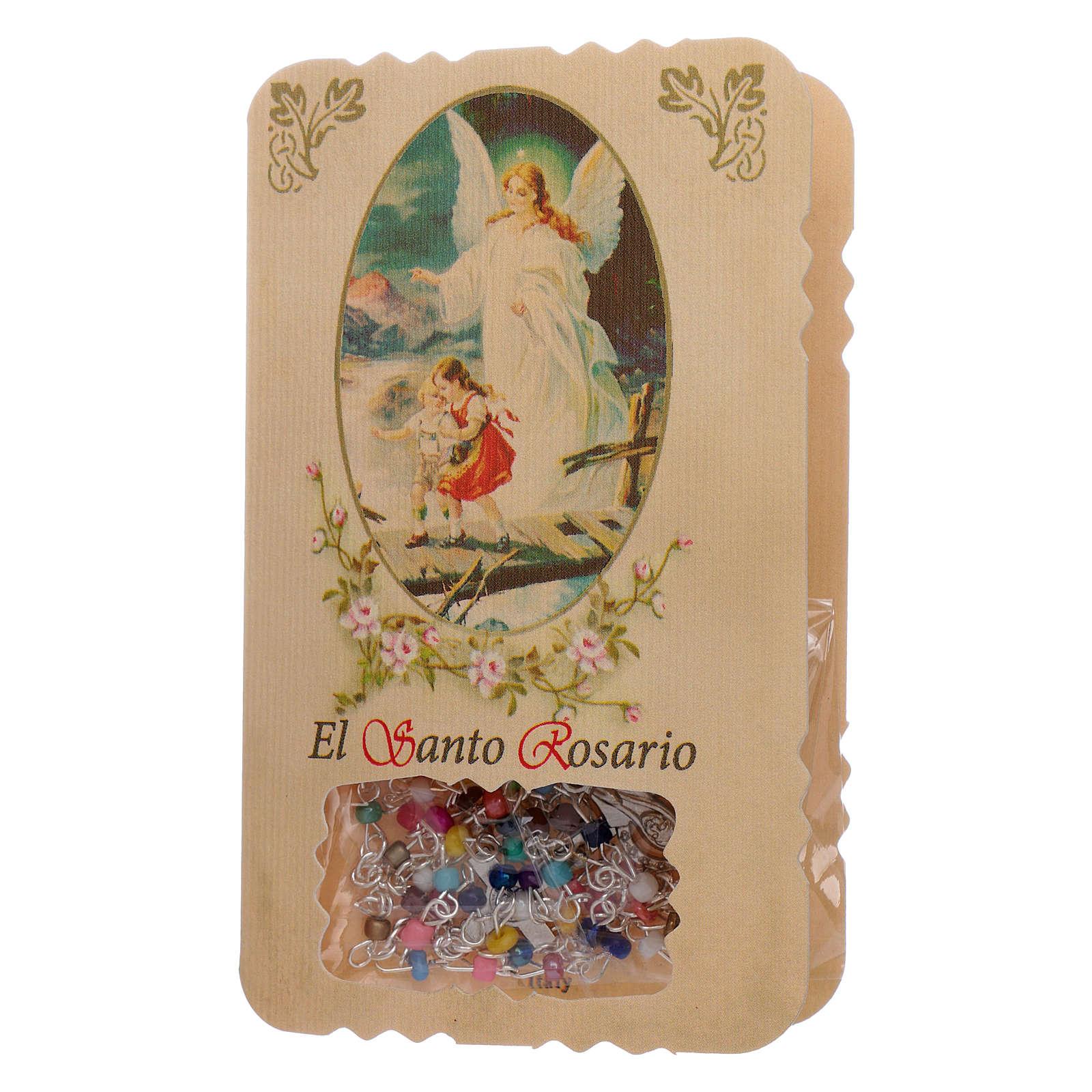 Różaniec ze składaną kartką anioł stróż, litanie i tajemnice 4