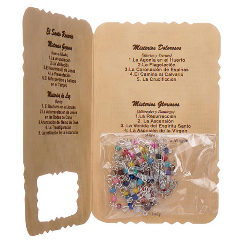 Rosary with Guardian Angel leaflet mysteries litanies 3