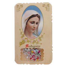 Rosary with Our Lady of Medjugorje leaflet mysteries s1