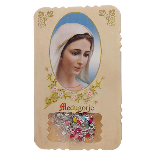 Rosary with Our Lady of Medjugorje leaflet mysteries 1