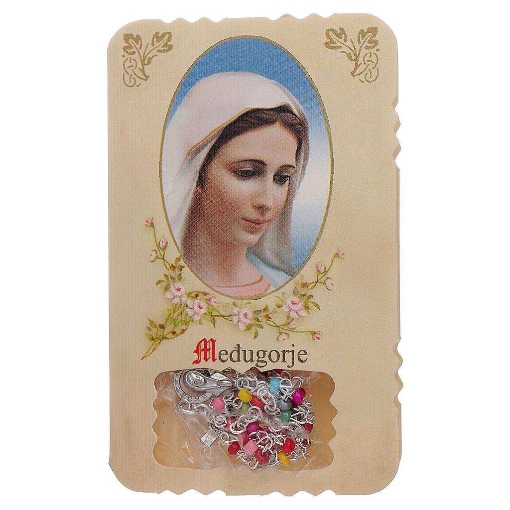 Rosario con pieghevole Madonna di Medjugorje e misteri rosario 4