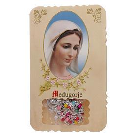 Rosario con pieghevole Madonna di Medjugorje e misteri rosario s1