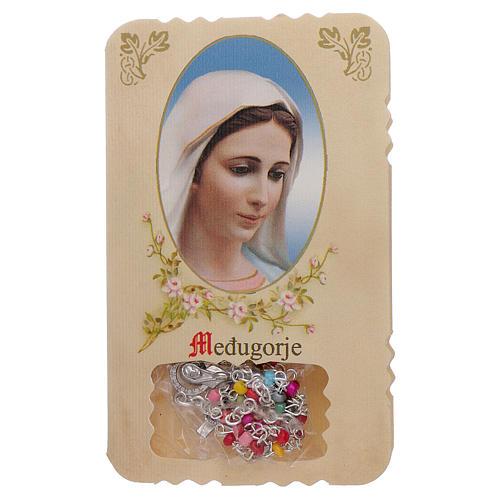 Rosario con pieghevole Madonna di Medjugorje e misteri rosario 1
