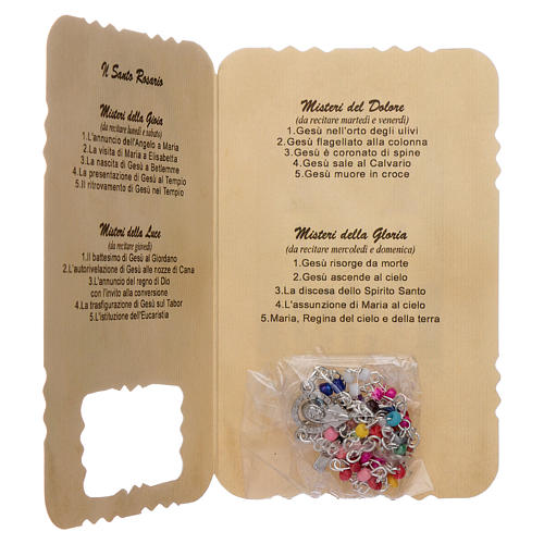 Rosary with Our Lady of Medjugorje leaflet mysteries 3