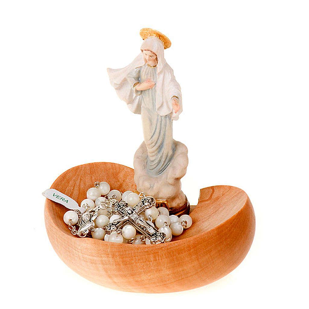 Madonna di Medjugorje portarosario da tavolo 4