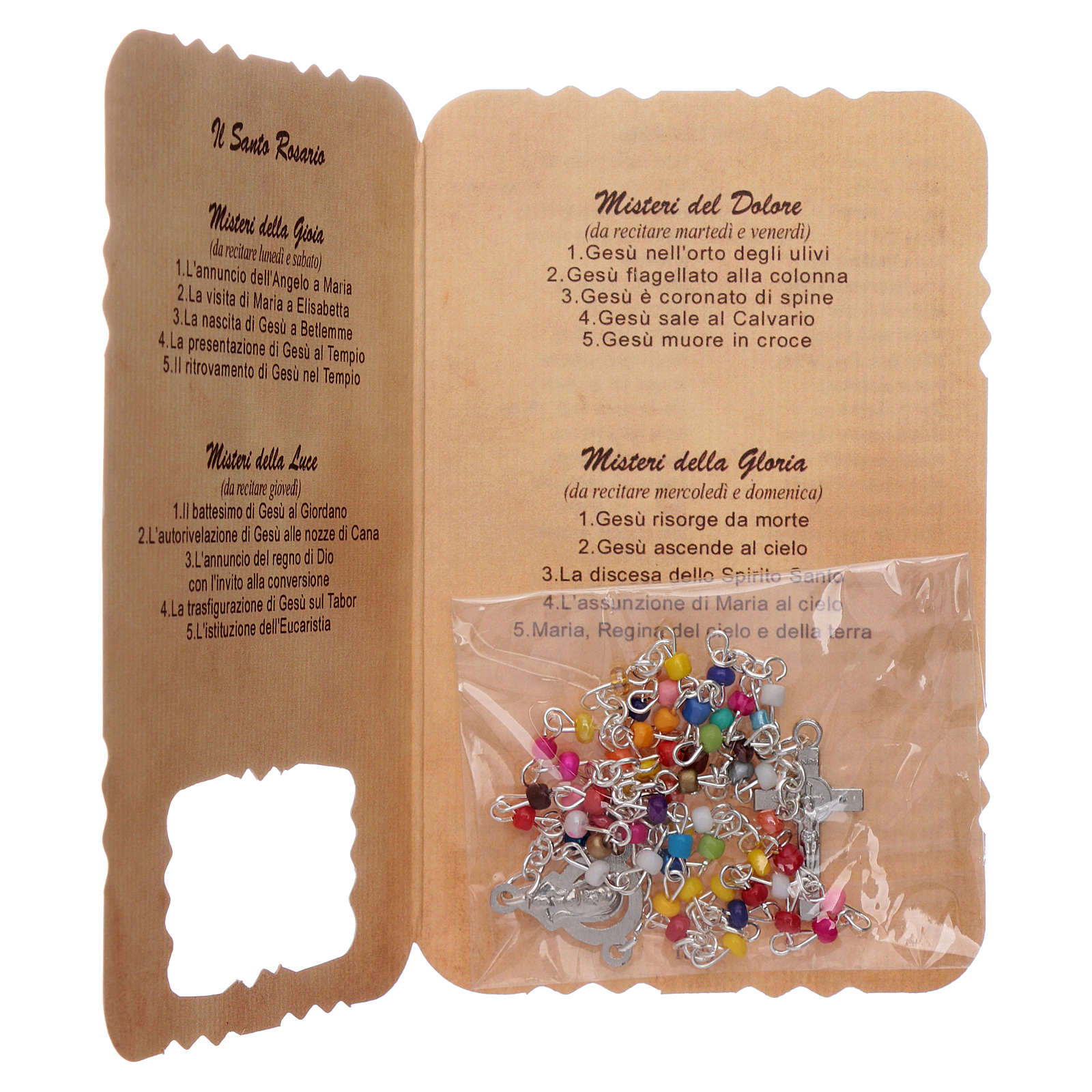 Rosary with Our Lady Miraculous Medal leaflet mysteries 4
