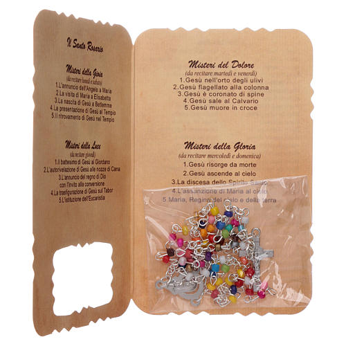Rosary with Our Lady Miraculous Medal leaflet mysteries 3