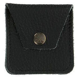 Leather rosary case black s1