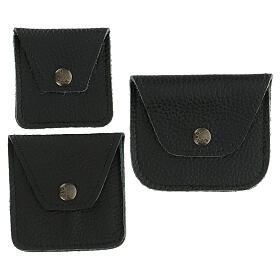 Leather rosary case black s2