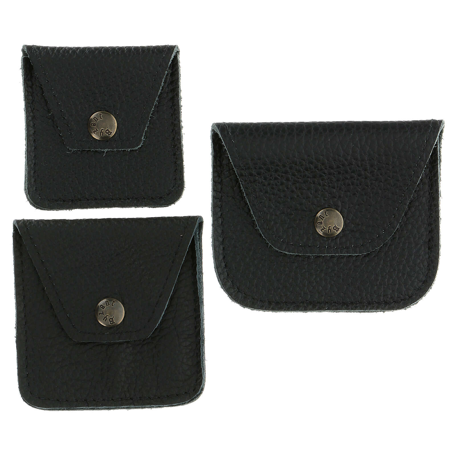 Leather rosary case black 4