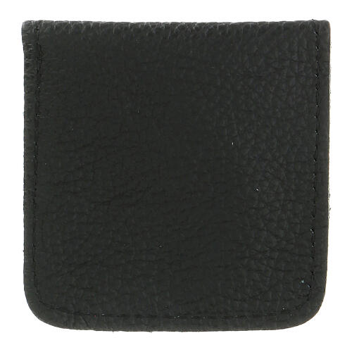 Leather rosary case black 3