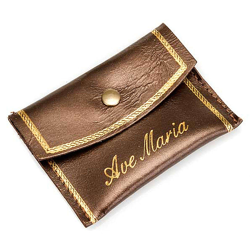 Personalised leather rosary case 4