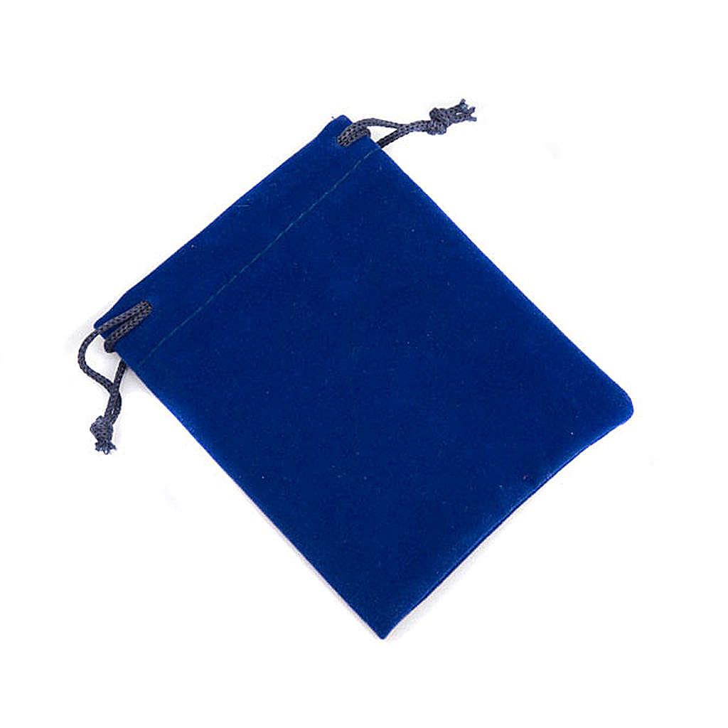 Portarosario sacchetto  blu 4