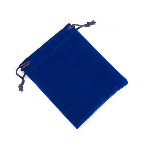 Portarosario sacchetto  blu 1