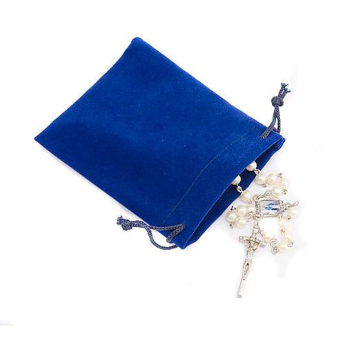 Portarosario sacchetto  blu 2