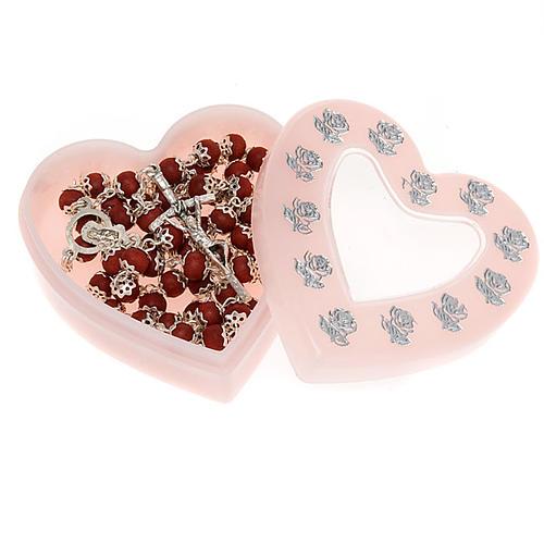 Rosary case heart shaped 2