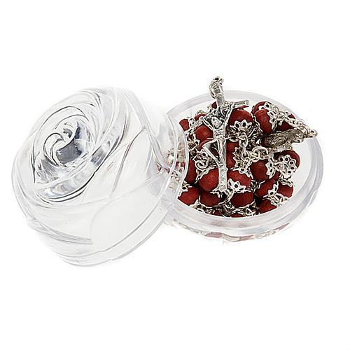 Rose-sahped box for 5 mm rosaries 2