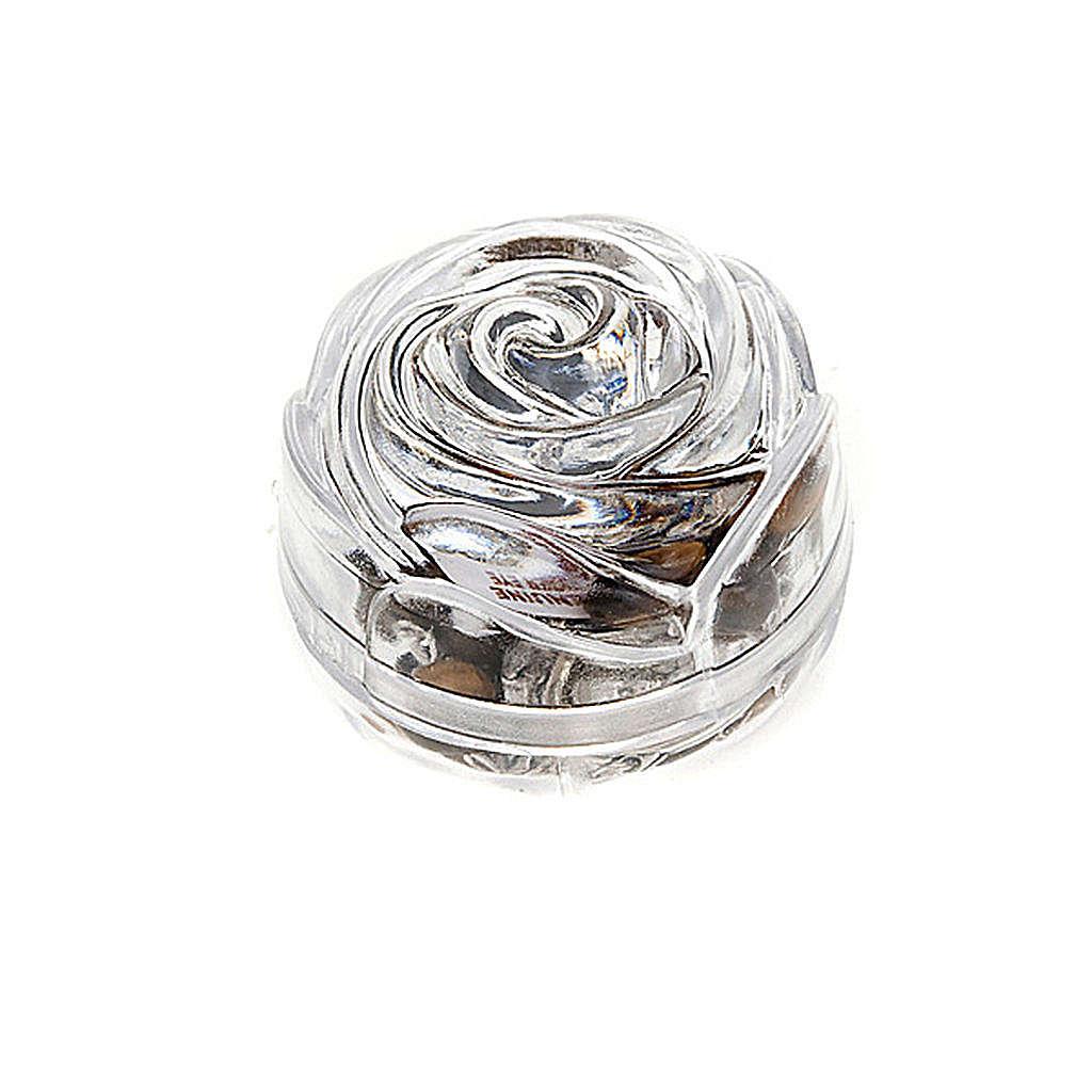 Boîte petite rose pour chapelets 5 mm 4