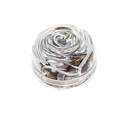 Boîte petite rose pour chapelets 5 mm 1