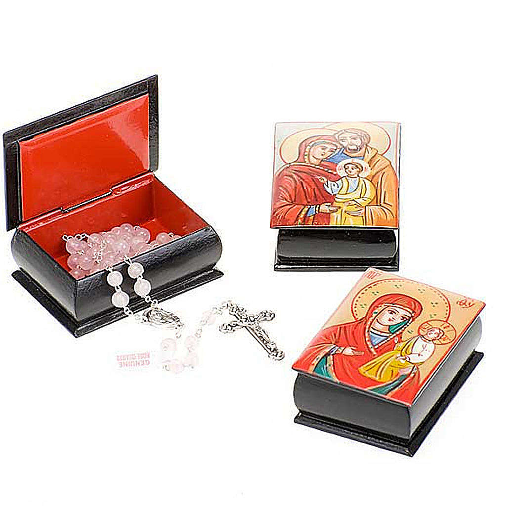 Rosary case (7mm beads) with hand-painted icon 4