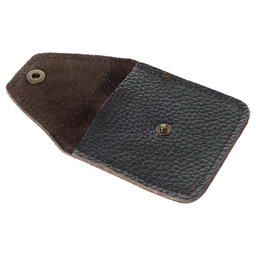 Leather rosary case, brown 2