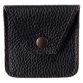 Leather rosary case, brown s1