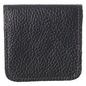 Leather rosary case, brown s3