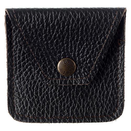 Leather rosary case, brown 1