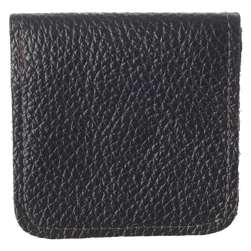 Leather rosary case, brown 3