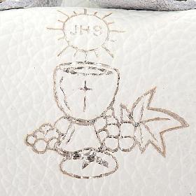 Etui pour chapelet en cuir en forme de sac, communion s3
