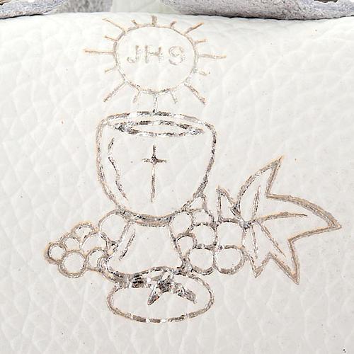 Etui pour chapelet en cuir en forme de sac, communion 3